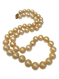 PACIFIC PEARLS MARIA-THERESA REEF COLLECTION Champagne 9-10mm Pearl Necklace
