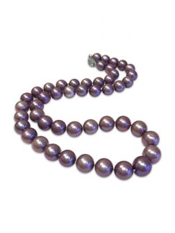 PACIFIC PEARLS MARIA-THERESA REEF COLLECTION Dark Lilac 9-10mm Pearl Necklace