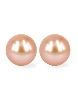 PACIFIC PEARLS MARIA-THERESA REEF COLLECTION Peach 9mm Pearl Stud Earrings