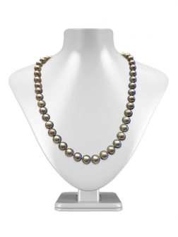 PACIFIC PEARLS MARIA-THERESA REEF COLLECTION Silver-Gray 9-10mm Pearl Necklace