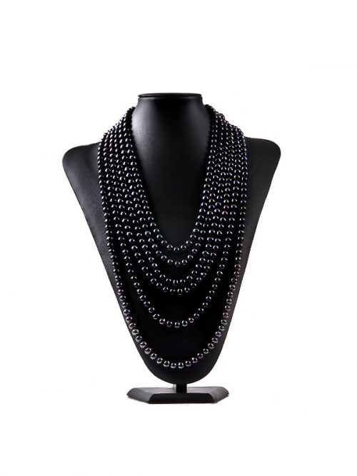 160_Inch_10_Strand_7.5_-_8.5mm_Classic_Tahitian_Black_Necklace_Display_1.600