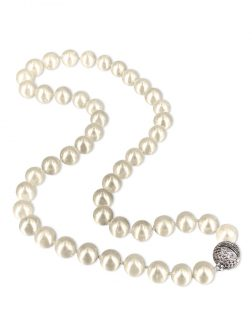 PACIFIC PEARLS MARIA-THERESA REEF COLLECTION White 9-10mm Pearl Necklace