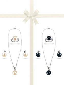 PACIFIC PEARLS BORA BORA COLLECTION Diamond Encrusted Gift Set