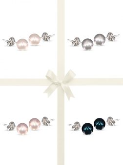 PACIFIC PEARLS BUA BAY COLLECTION Four-Piece Pearl Stud Earring Gift Set