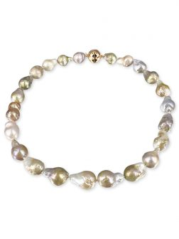 PACIFIC PEARLS POLYNESIA COLLECTION Pink Champagne 10-15mm Baroque Pearl Necklace