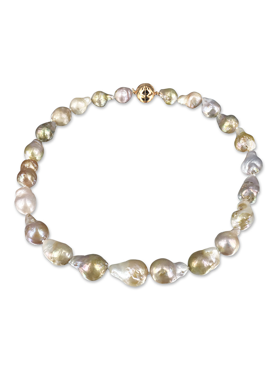 Polynesia Collection Pink Champagne 10 15mm Baroque Pearl