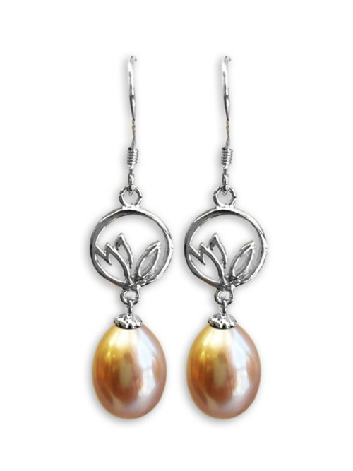 ROSE ATOLL COLLECTION PASTEL DREAMCATCHER PEARL EARRINGS