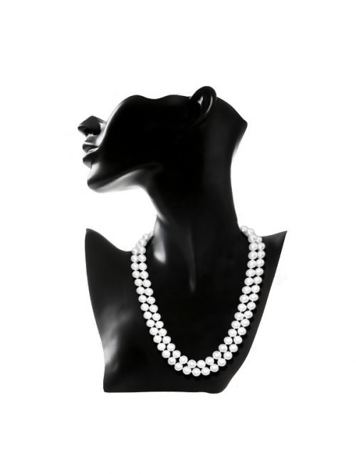 ROYAL FALLS COLLECTION WHITE DOUBLE STRAND PEARL NECKLACE