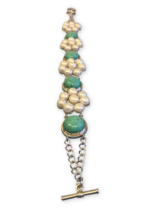 BORA BORA COLLECTION TURQUOISE AND PEARL BRACELET