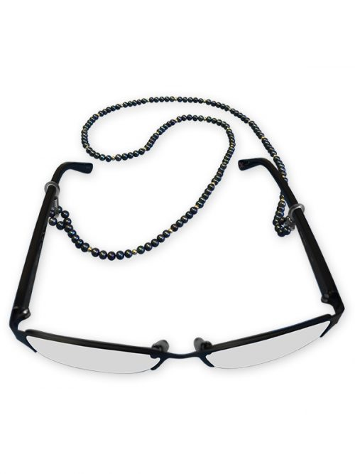 TERAINA COVE COLLECTION BLACK EYEWEAR 3-4MM PEARL NECKLACE