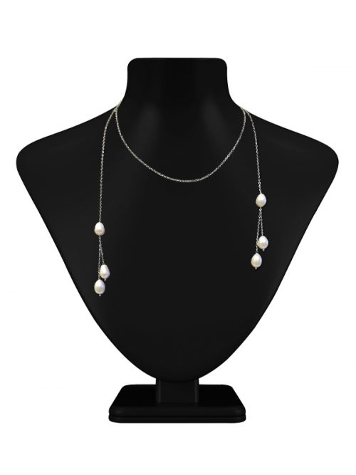 TERAINA COVE COLLECTION WHITE TRIPLE DROP PEARL LARIAT