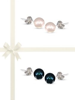 PACIFIC PEARLS BUA BAY COLLECTION Two-Piece Pearl Stud Earring Gift Set