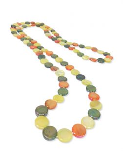 PACIFIC PEARLS OYSTER BAY COLLECTION Citrus Double Strand Mother-of-Pearl Necklace