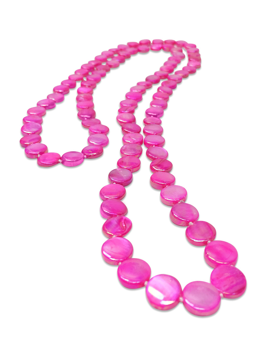 Oyster Bay Collection Hot Pink Double Strand Mother Of