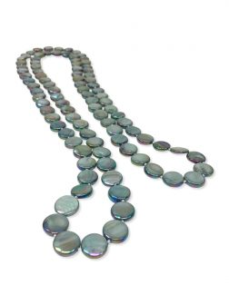 PACIFIC PEARLS OYSTER BAY COLLECTION Mermaid Green Double Strand Mother-of-Pearl Necklace