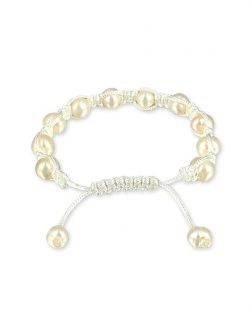 PACIFIC PEARLS MERMAID BEACH COLLECTION Lace Shamballa Pearl Bracelet