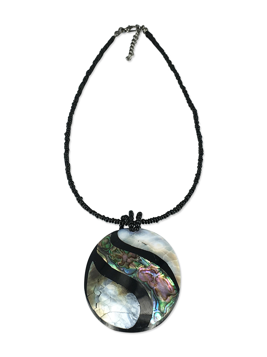 PACIFIC PEARLS NEW ZEALAND ABALONE COLLECTION Abalone and Mother-of-Pearl Pendant