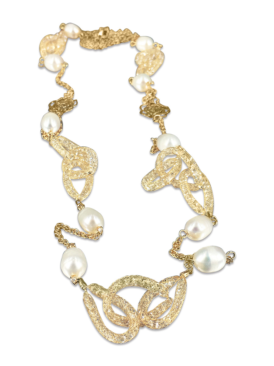 ROSE ATOLL COLLECTION 14K Yellow Gold Filled Pearl Swarovski