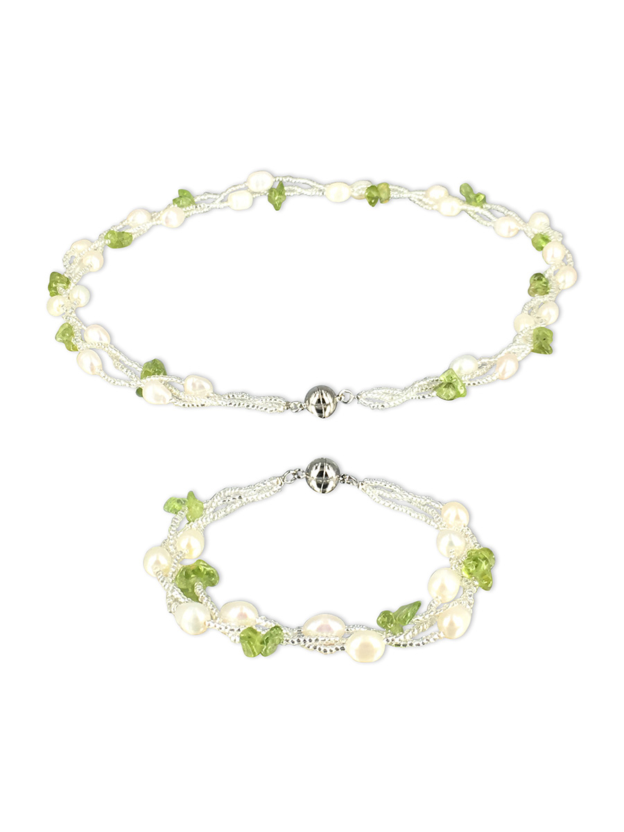 amp y en shaped pearls store natural pearl rakuten market peridot global stones shoploop item freshwater necklace
