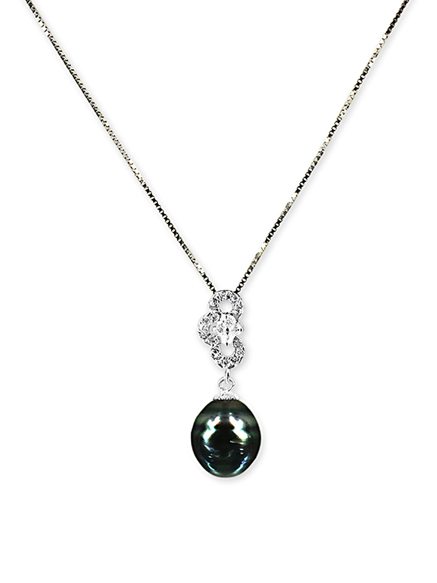 PACIFIC PEARLS TAHITIAN COLLECTION Highland Fling 11-12mm Tahitian Baroque Pearl Pendant