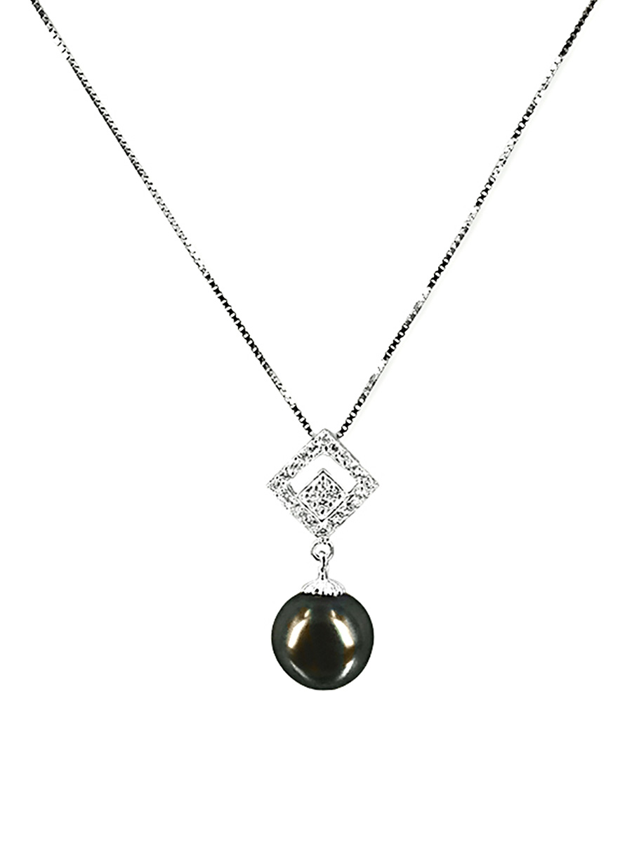 international pendant pearls shop gunmetal vertical pearl freshwater grey