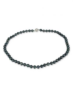 b72778282cd38f ... PACIFIC PEARLS AKOYA COLLECTION Black 6-7mm Akoya Pearl Necklace