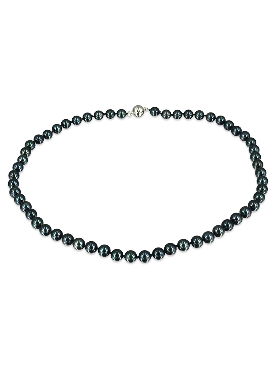 09222ca2d656d3 AKOYA COLLECTION Black 6-7mm Akoya Pearl Necklace | PacificPearls.com