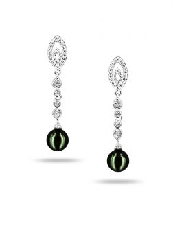PACIFIC PEARLS AKOYA COLLECTION Rambling Rose Akoya Pearl Earrings