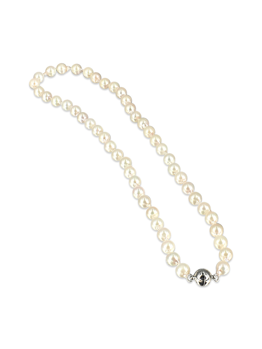 841439aa926e4e ... PACIFIC PEARLS AKOYA COLLECTION White 6-7mm Akoya Pearl Necklace ...