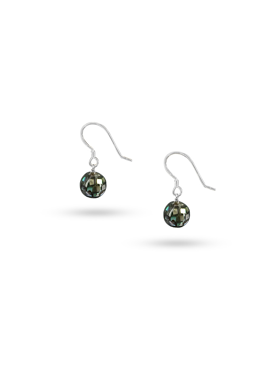 PACIFIC PEARLS GALÁPAGOS COLLECTION 8mm Pāua Drop Earrings