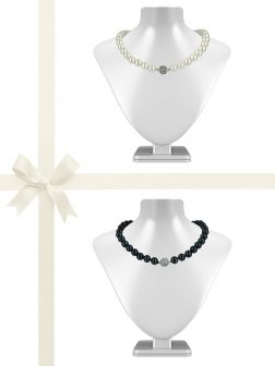 PACIFIC PEARLS PACIFIC PEARLS VANUATU COLLECTION 11mm-12mm Pearl Necklace Gift Set
