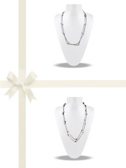 PACIFIC PEARLS TERAINA COVE COLLECTION Pastel Pearl Necklace Gift Set