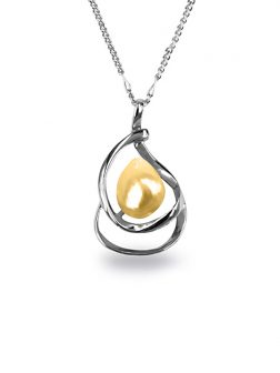 PACIFIC PEARLS KIRIBATI COLLECTION Gold 15-18mm Baroque Pearl Pendant