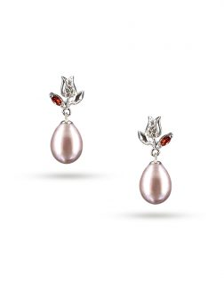 PACIFIC PEARLS ROSE ATOLL COLLECTION Tudor Rose 10-11mm Lavender Pearl Earrings
