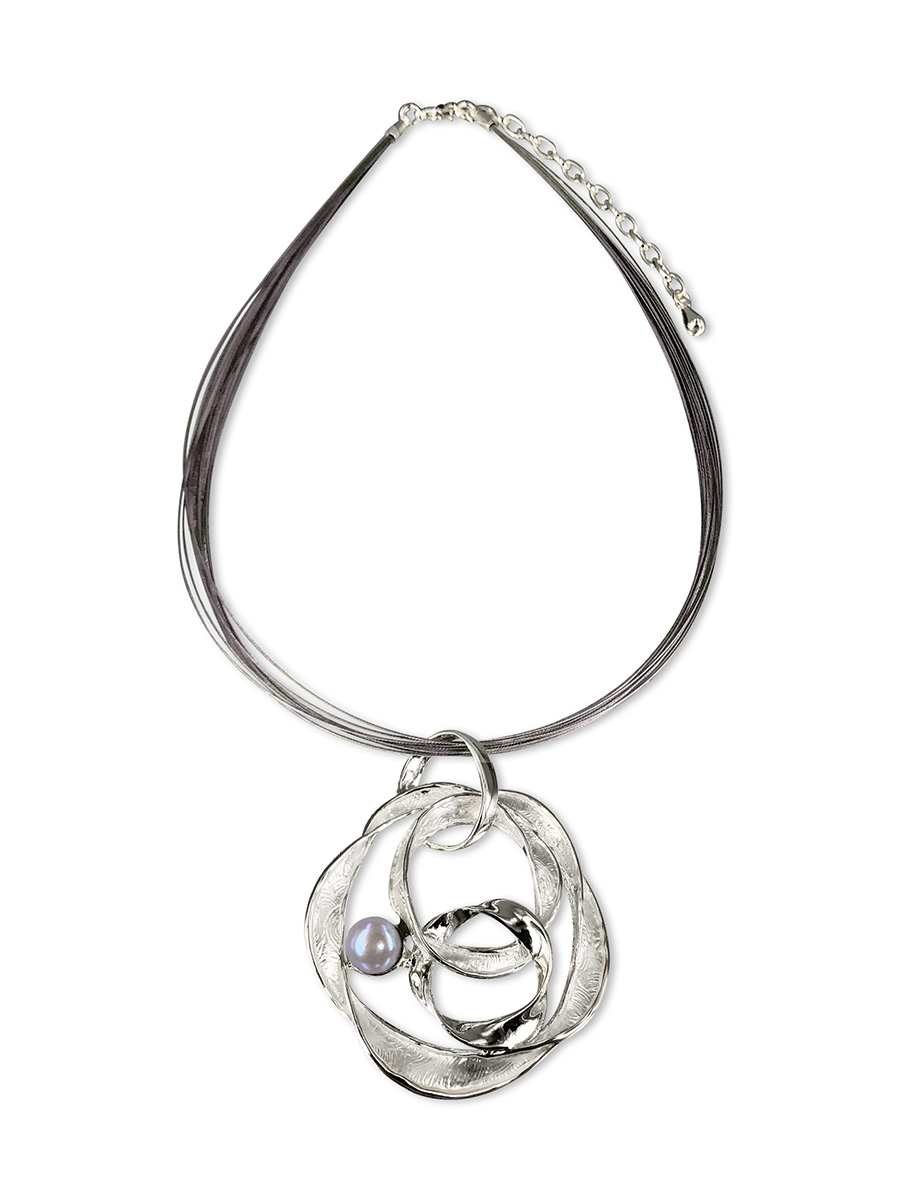PacificPearls.com PACIFIC PEARLS WAIKIKI COLLECTION Iolana 18K White Gold Filled Designer Pearl Pendant