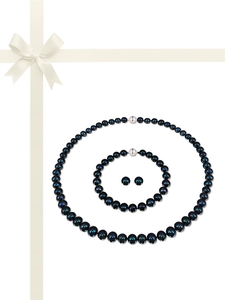 PACIFIC PEARLS BUA BAY NECKLACE, BRACELET AND EARRING GIFT SETS