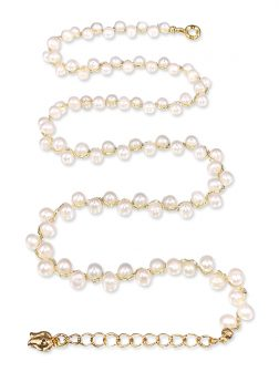 PACIFIC PEARLS MERMAID BEACH COLLECTION 18K Yellow Gold Filled Pearl Choker Necklace