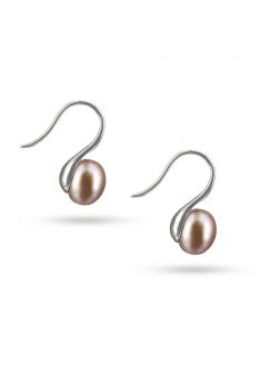 PACIFIC PEARLS PALLISER LAGOON COLLECTION Swan Reverie 925 Sterling Silver Blush Pearl Earrings