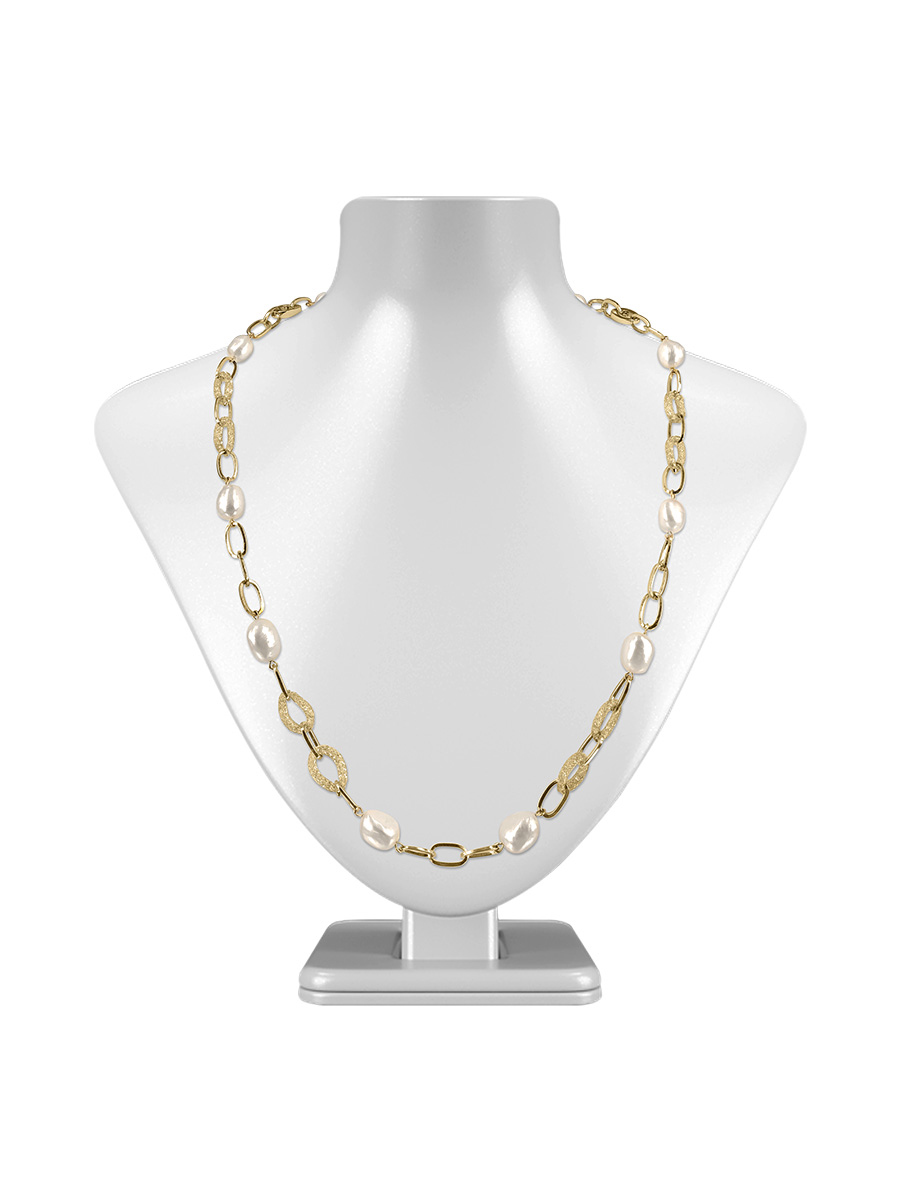 9b9ea02ad PACIFIC PEARLS SUNSHINE COAST COLLECTION 18K Yellow Gold Filled Pearl & Swarovski  Necklace & Bracelet ...