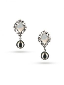 PACIFIC PEARLS TAHITIAN-COLLECTION-Marrakech-9-10mm-Tahitian-Pearl-Earrings