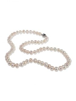 PACIFIC PEARLS PALLISER LAGOON COLLECTION Ivory 7-8mm Pearl Necklace