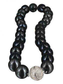 PACIFIC PEARLS VANUATU COLLECTION Black Panther 13-15mm Edison Pearl Necklace