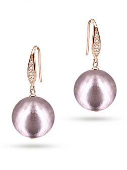 PACIFIC PEARLS VANUATU COLLECTION Jaipur Princess 13mm Metallic Edison Pearl Earrings