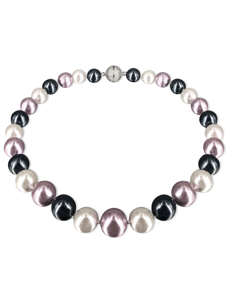 PACIFIC PEARLS VANUATU COLLECTION Riviera 13mm-15mm Metallic Edison Pearl Necklace