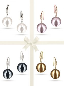 PACIFIC PEARLS VANUATU COLLECTION Ultimate 13mm Metallic Edison Pearl Earring Gift Set