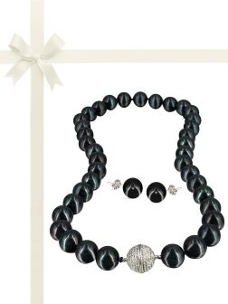 PACIFIC PEARLS VANUATU COLLECTION Tango After Dark 11-12mm Pearl Gift Set