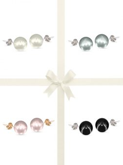 PACIFIC PEARLS VANUATU COLLECTION Ultimate 11mm Pearl Stud Earring Gift Set