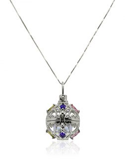 ROYAL FALLS COLLECTION Fabergé White Gold Swarovski Encrusted Pearl Locket Pendant