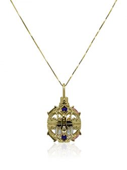 ROYAL FALLS COLLECTION Fabergé Yellow Gold Swarovski Encrusted Pearl Locket Pendant