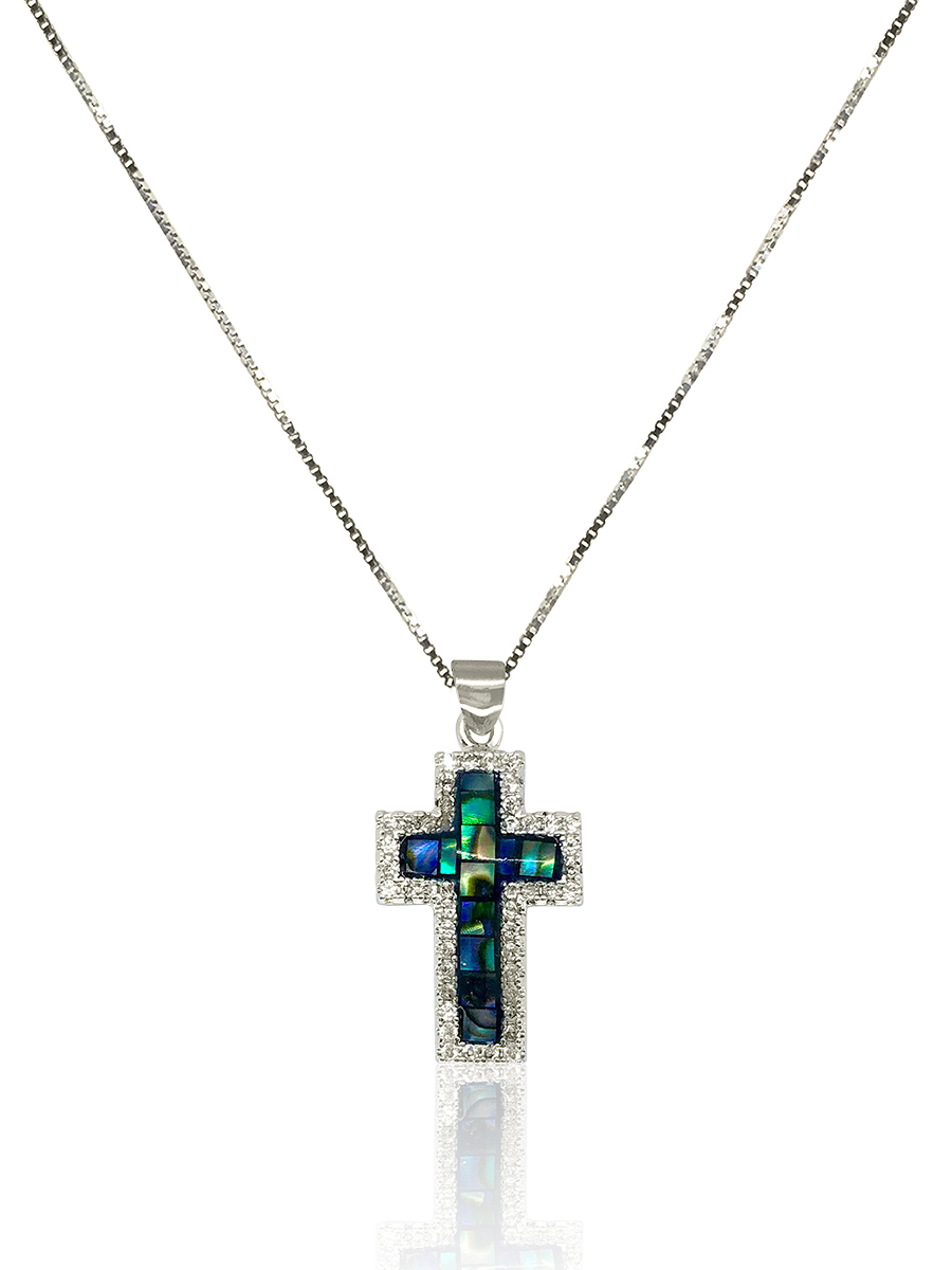 GALÁPAGOS COLLECTION Renaissance Diamond Encrusted Pāua Pendant